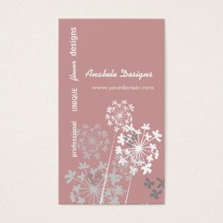 Cartes De Visite Jardin élégant d'été de ressort de nature floral