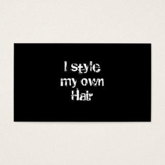 Cartes De Visite Je dénomme mes propres cheveux. Noir et blanc.