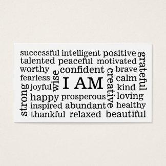 Cartes De Visite JE SUIS des affirmations positives pour la santé