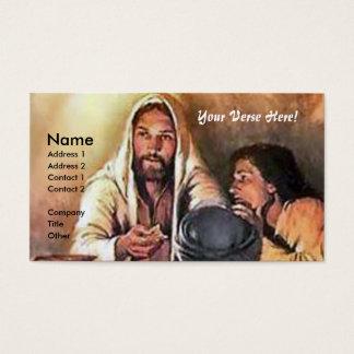 Cartes De Visite Jésus casse le pain