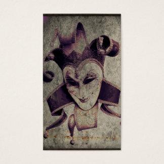 Cartes De Visite Joker mauvais de clown de la Renaissance gothique