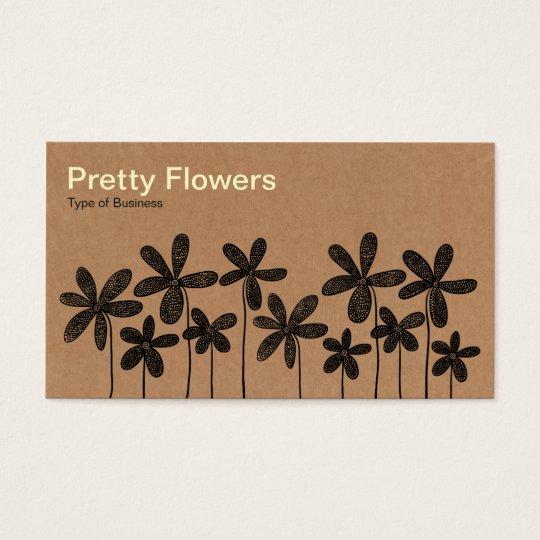 cartes de visite jolies fleurs texture de bo te en carton. Black Bedroom Furniture Sets. Home Design Ideas