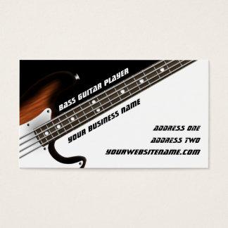 Cartes De Visite Joueur de guitare basse