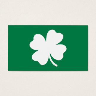 Cartes De Visite Jour de la Saint Patrick vert Irlande de shamrock