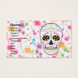 Cartes De Visite Jour du crâne mort de sucre - couleur multi