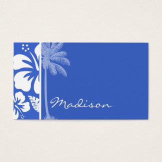 Cartes De Visite Ketmie tropicale hawaïenne bleue de Han ; Paume