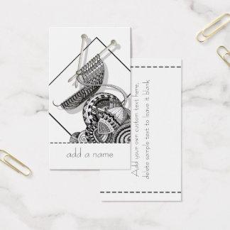 Cartes De Visite Knit un art de griffonnage