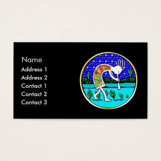 Cartes De Visite Kokopelli sous les étoiles