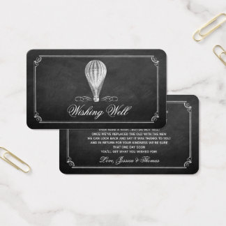Cartes De Visite La collection chaude de mariage de ballon à air de