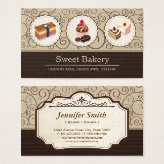 Cartes De Visite La coutume douce de magasin de boulangerie durcit