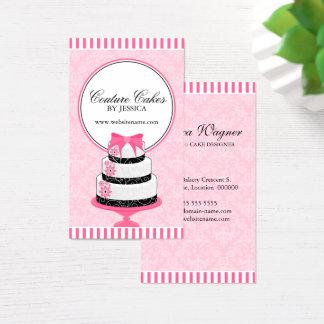 Cartes De Visite La couture durcit le rose de boulangerie