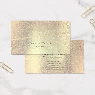 Cartes De Visite La feuille d'or d'or de rose de Minimalistic