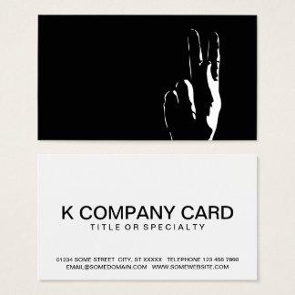 Cartes De Visite la lettre K dans la langue des signes