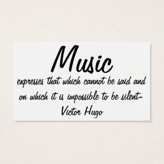 Cartes De Visite La musique exprime…