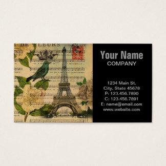 Cartes De Visite la musique note Tour Eiffel de Paris de Français