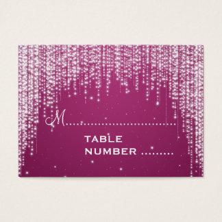 Cartes De Visite La nuit de Placecards de mariage brillent le rose