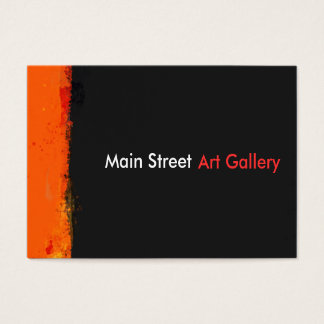Cartes De Visite La peinture grunge audacieuse d'aquarelle