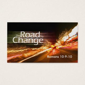 Cartes De Visite La route au Changement-milieu