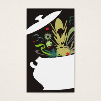 Cartes De Visite la saveur de pot de cuisine a éclaté les affaires