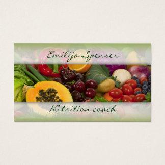 Cartes De Visite La vie saine de fruits et de légumes/carte de