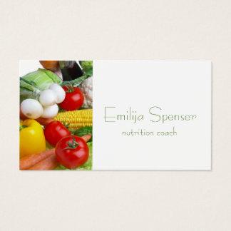 Cartes De Visite La vie saine de Minimalistic/carte de diététicien