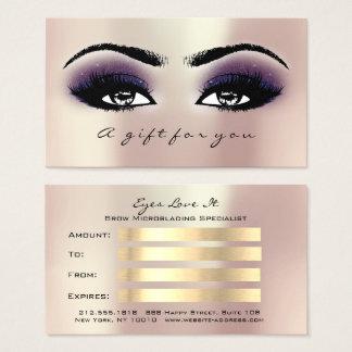 Cartes De Visite La violette de rose de rose de certificat-prime