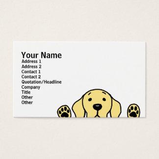 Cartes De Visite Labrador jaune vous observant