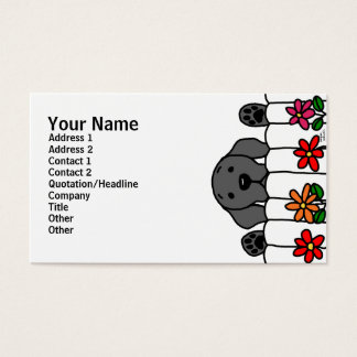Cartes De Visite Labrador noir vous observant