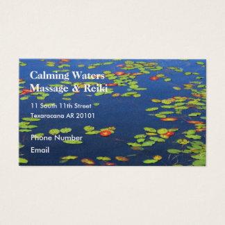 Cartes De Visite Lac bleu avec des protections de lis