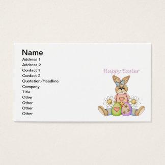 Cartes De Visite Lapin heureux de fille de Pâques