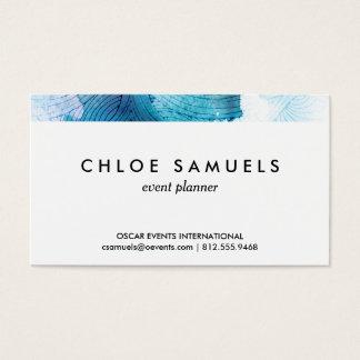 Cartes De Visite L'aquarelle ondule le pourpre de bleu d'océan