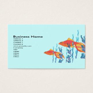 Cartes De Visite L'aquarelle rouge mignonne de poissons éditent