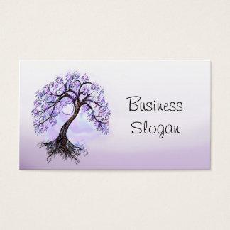 Cartes De Visite L'arbre de lavande de la vie se relient à votre