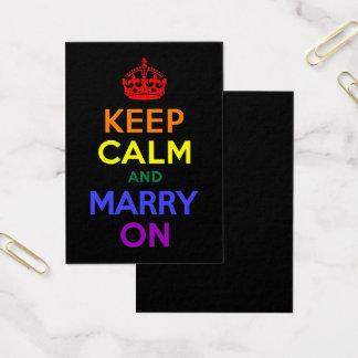 Cartes De Visite L'arc-en-ciel gardent le calme et se marient
