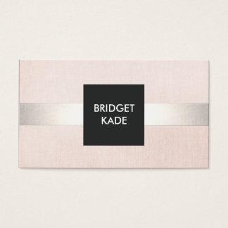 Cartes De Visite L'argent moderne élégant de beauté a barré pâle -