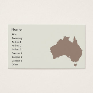 Cartes De Visite L'Australie - affaires