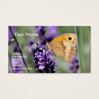 Cartes De Visite Lavande et papillon