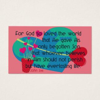Cartes De Visite Le 3h16 de John pour Dieu a ainsi aimé le monde