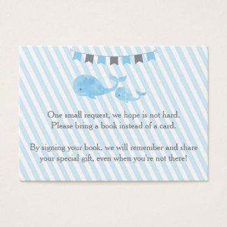 Cartes De Visite Le baby shower de baleine apportent une insertion