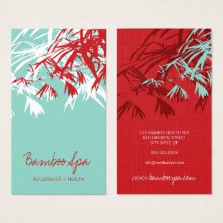 Cartes De Visite Le bambou asiatique oriental laisse à arbre le spa