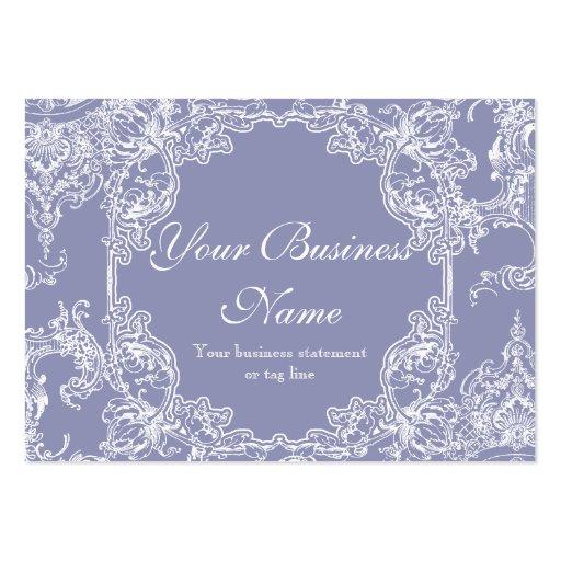 Cartes de visite - le baroque floral de remous de  modèles de cartes de visite