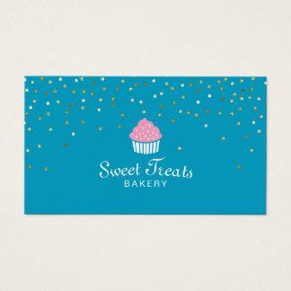 Cartes De Visite Le bonbon à petit gâteau de boulangerie traite la