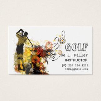 Cartes De Visite Le cool folâtre le golf moderne grunge urbain