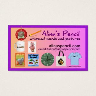 Cartes De Visite Le crayon d'Alina éditant 2014