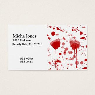 Cartes De Visite Le désordre sanglant s'égoutte la couleur faite