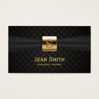 Cartes De Visite Le diamant de luxe de monogramme d'or pique le