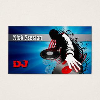 Cartes De Visite Le disc-jockey   DJ mélangent des battements