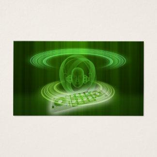 Cartes De Visite Le DJ verdissent