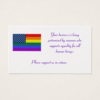 Cartes De Visite Le drapeau de LGBT, vos affaires est patronné par…