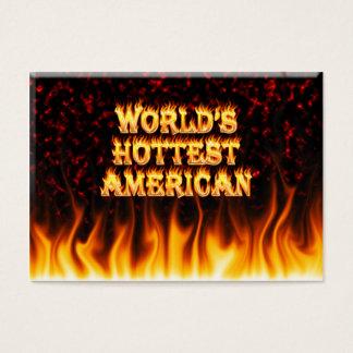 Cartes De Visite Le feu du monde et le marbl de rouge de flammes
